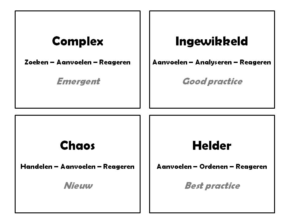 vier typen managementproblemen